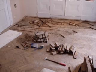Výměna části podlahy