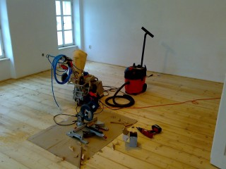 Renovace starých prken - olej